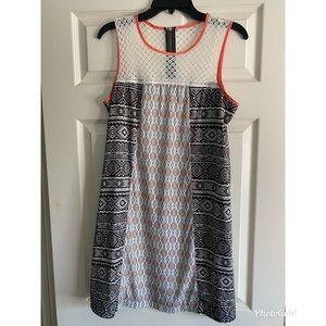 Xhilaration Tribal zipper back print mini dress M